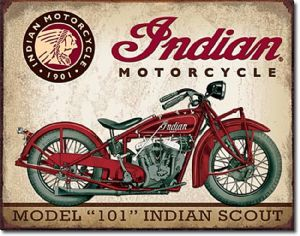 Indian Motorcycle Model 101 Indian Scout Metal Sign    (de)